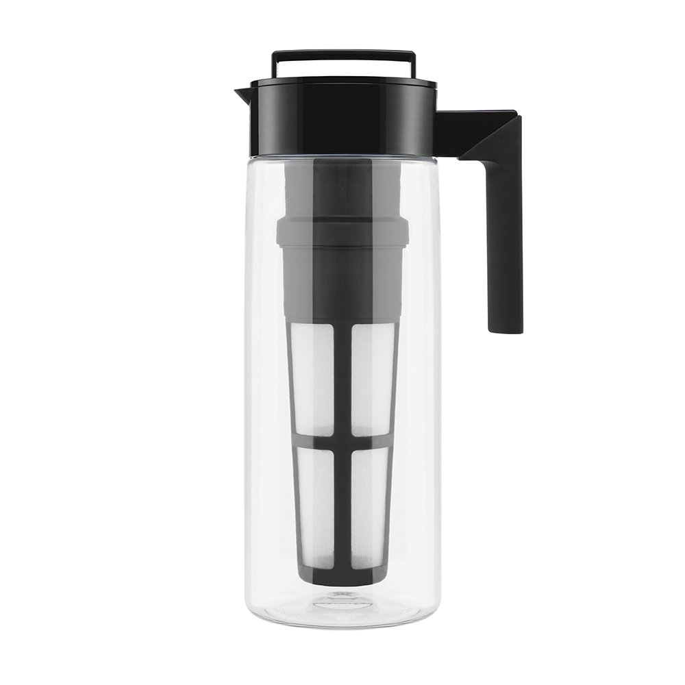 Takeya Patented Deluxe Cold Brew Iced Coffee Maker with Airtight Seal & Silicone Handle, Made in USA, 2-Quart, Black by Takeya