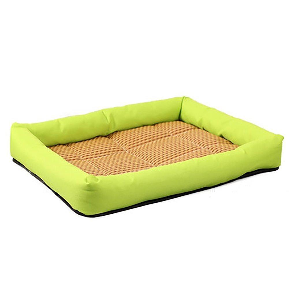 Juneping Forniture per cani lettiere per gatti (colore  verde, dimensioni  L) Gatto Letto