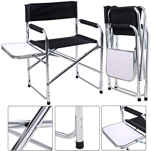 LTL Shop Aluminum Folding Chair with Side Table Camping Traveling (Cheap Outdoor Furniture Auckland Nz)