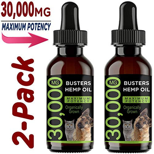 K2xLabs-30000-MG-Max-Potency-Busters-Organic-Hemp-Oil-Treats-for-Dogs-Cats-Perfect-Ratio-Omega-3-6-Made-in-USA-Hip-Joint-Health-Natural-Relief-for-Pain-Separation-Anxiety