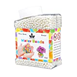 jelly beads vase - AINOLWAY High Elastic Water Beads Gel Pearls Jelly Crystal Soil for Kids Sensory toys or Vase Fillers 4oz Almost 15,000 Pcs (White)