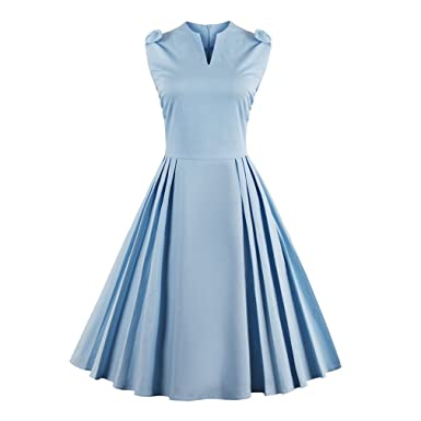 KeKeD23921 Summer Dress Women Vintage Retro Dress Hepburn Garden Party Casual Swing Dress Plus Size Dress