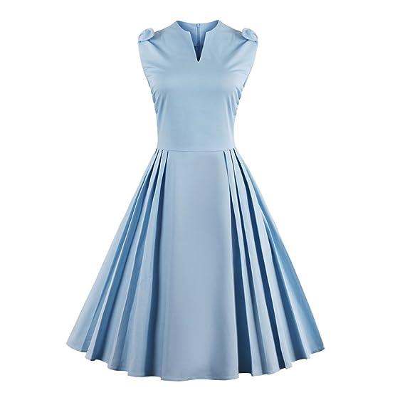 Retro kleid hellblau