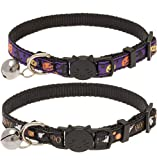 BINGPET Adjustable Halloween Breakaway Cat Collar with Bell