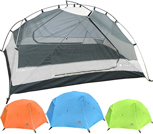Person Backpacking Tent with Footprint - Lightweight, Spacious Interior, Compact, and Durable Design (Blue) (Family Series Dome Tent)