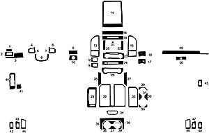 Rvinyl Rdash Dash Kit Decal Trim for Ford F-150 2015-2020 - Wood Grain (Oak Blonde)