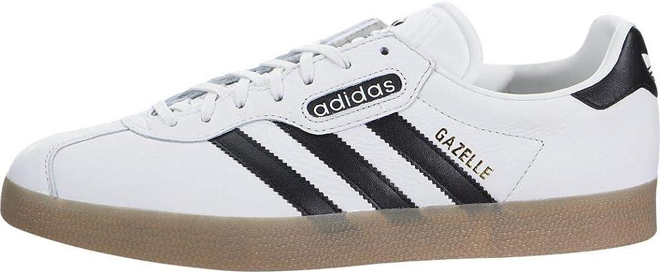 Melancolía Energizar resultado  Amazon.com | adidas Gazelle Super Mens in White/Black/Gum, 4.5 | Shoes