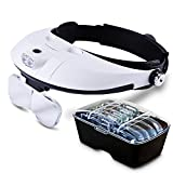 Best Headband Magnifiers - Illumination Headset | Head Mount Magnifier Headband LED Review
