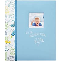 """C.R. Gibson Let The Adventure Begin Loose Leaf 3-Ring Memory Book for Newborns and Babies, 10.125"""" x 11.5"""""""