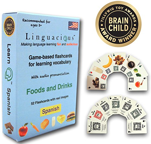 - Linguacious Award-Winning Spanish Foods and Drinks Flashcard Game - with Audio