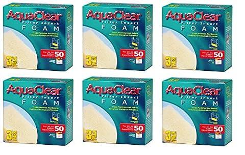 (6 Pack) Aquaclear 50 Foam Inserts, 18 Total Inserts
