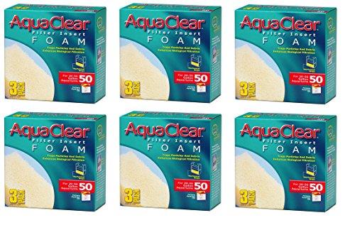 (6 Pack) Aquaclear 50 Foam Inserts (3 Inserts per Pack / 18 Total Inserts) ()