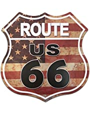 """SUDAGEN Route 66 Signs Vintage Road Signs for Wall Decor Art 12"""" x 12"""""""
