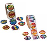 2 Rolls Student Incentive Reward Stickers for Kids - Motivation Inspirational Quote Achievement Stickers (200 Total Stickers)