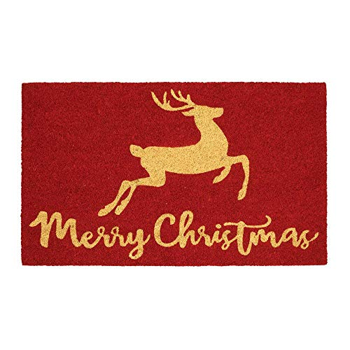 Home Accents Holiday Christmas Wonder 18 in. x 30 in. Coir Door Mat (Christmas Mat Door Coir)
