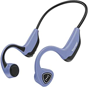 Tayogo Bone Conduction Mp3 Player Headphones, 8GB Memory Storage Holds Music Audio Books, Open Ear for Running, Sports, Fitness - Blue