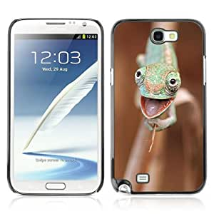 Designer Depo Hard Protection Case for Samsung Galaxy Note 2 N7100 / Happy Chameleon by icecream design