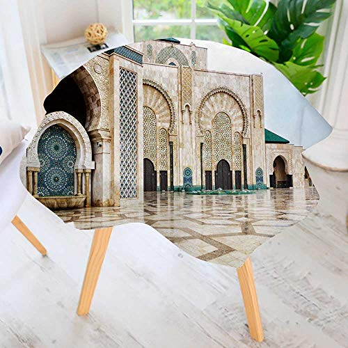 PRUNUS Spring & Summber Tablecloth-Detail of Hassan ii Mosque in Casablanca Morocco for Outdoor or Indoor Use, BBQs 55