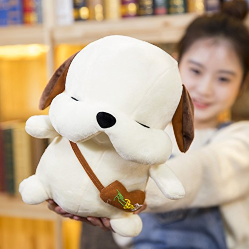 Lovely Embroidery Cuddly Ins Cartoon Cute Puppy Dog Stuffed Animals 3D Plush Lumbar Soft Hugging Figure Bolster Bed Cushion Nursery Home Office Decor Baby Play Toy Sleeping Throw Pillow Gift White by ORGEN HOME (Image #5)