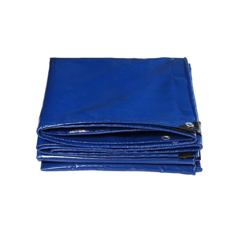Zeltplanen CJC Plane Zelt Draussen Schutz Abdeckungen Angeln Gartenarbeit Haustiere 550g m (Farbe   Blau, größe   3x4m)