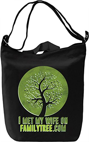 Family Tree Wife Borsa Giornaliera Canvas Canvas Day Bag| 100% Premium Cotton Canvas| DTG Printing|
