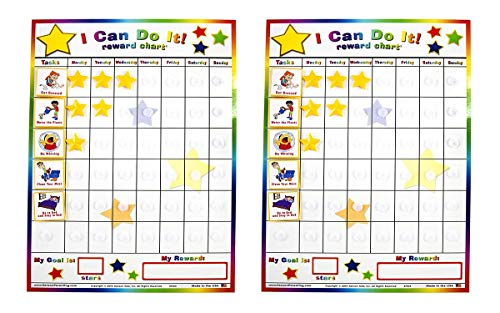 (Set of 2 Kenson Kids I Can Do It Reward and Responsibility Chart, 11 X 15.5-Inch)