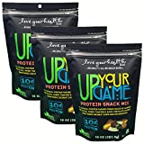 Love Your Health UP YOUR GAME Protein Snack Mix – Sea Salted, Honey Toasted, Dark Chocolate Covered Soy Nuts with Almonds – Dry Roasted, Healthy Snacks – Soy Protein Snacks for Men & Women – 3 Pack