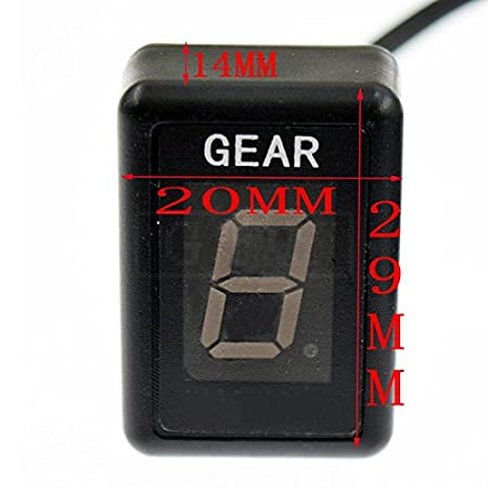 GFYSHIP Motorcycle LCD Electronics 1-6 Level Gear Indicator Digital Gear Meter For Yamaha YZFR6 1998-2005 2006 2007 2008 2009 2010 2011 2012 2013 2014 2015 2016 YZFR6S 2006-2009 YZF-R6 YZF-R6S