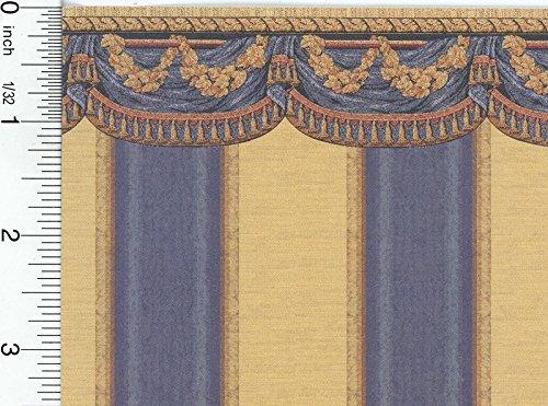 (Mini Graphics Dollhouse Wallpaper Tara Blue)