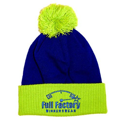 Full Factory Winnerswear - Gorro de punto - para hombre Azul Blue & Lime Talla única