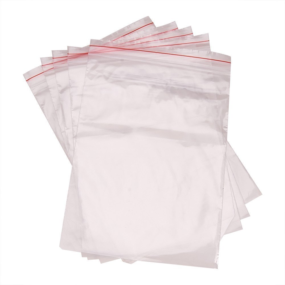 Unilateral thickness: 0.023mm Rectangle Clear Pandahall 200 pcs 10x7cm Zip Lock Bags