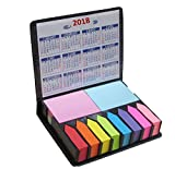 Colored Sticky Notes & Index Flags Set in PU Leather Look Holder Deal (Small Image)
