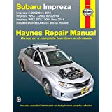 Subaru Impreza 2002 thru 2011, Impreza WRX 2002 thru 2014, Impreza WRX STI 2004 thru 2014: Includes Impreza Outback and GT Models