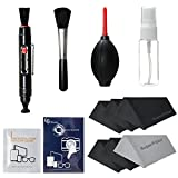 LS Photography Photo Camera Cleaning Brush Kit Cleaning Set for DSLR Cameras, Lens and Sensitive Electronics with (6 PCS.) 6'' x 7'' SuperFiber Lens Cleaning Cloth, LGG169