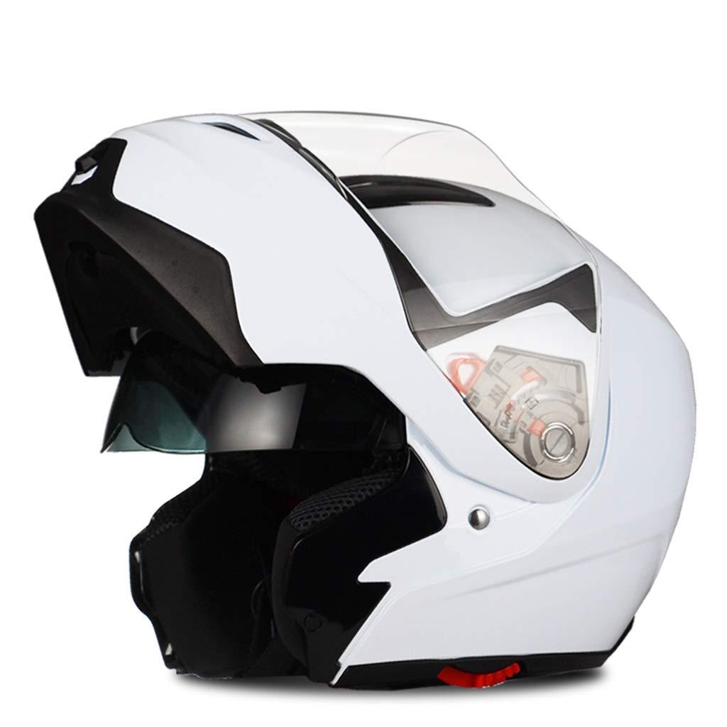 Casque de moto anti-bu/ée pour hommes et femmes Mod/èles /à double coque int/égrale Quatre saisons Universal Couleur : Black 4-XL