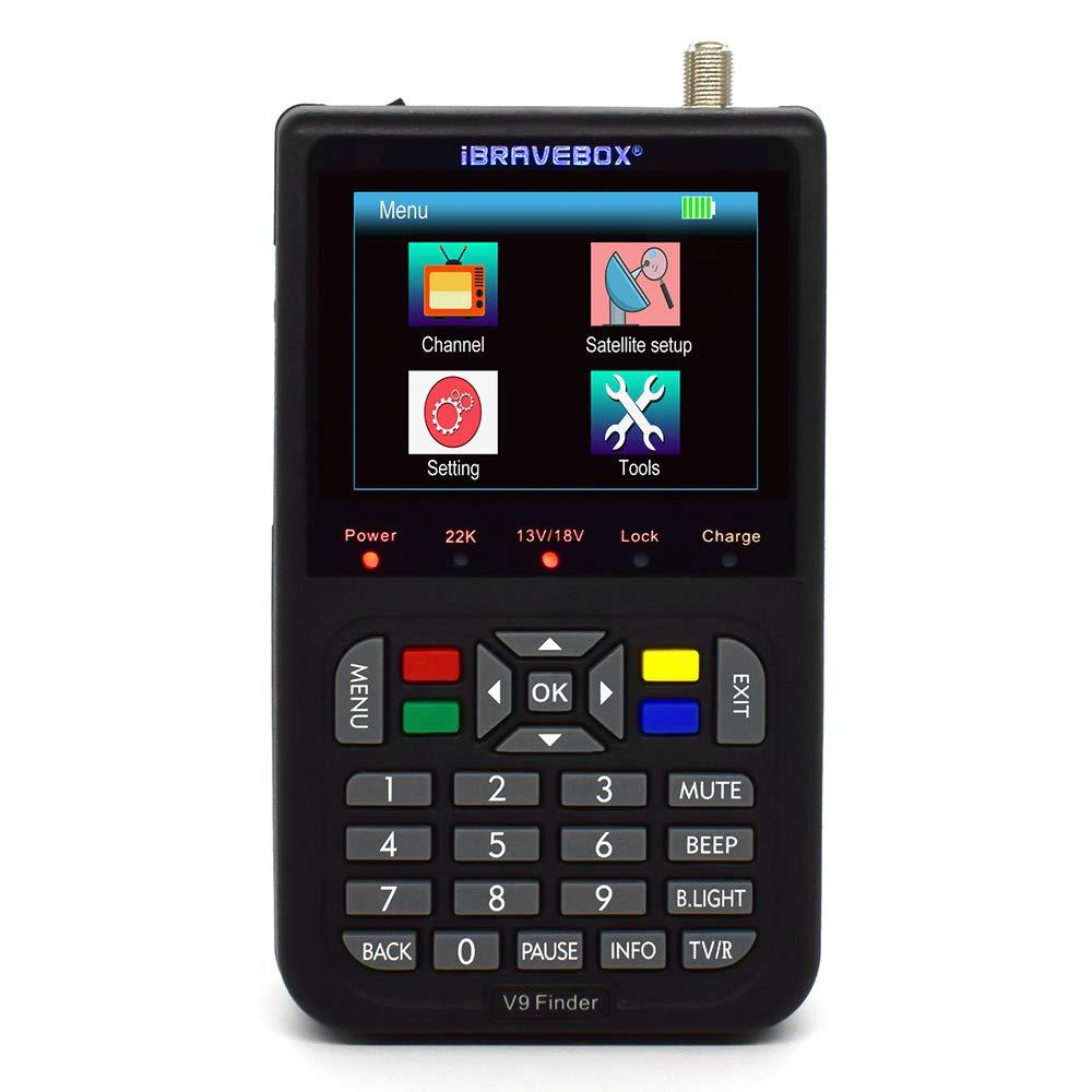 Satellite Finder,KKmoon V9 Finder Digital Satellite Finder LCD Satellite Finder Digital Satellite Signal Finder Meter Satellite Meter Satellite Finder 3.5 inch LCD Digital Display Satellite Television