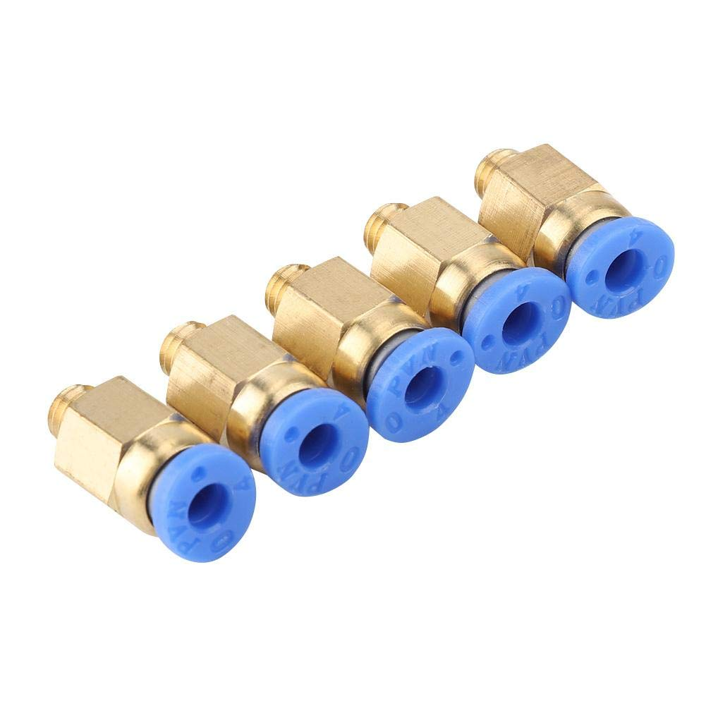 ASHATA 5xPC4-M6 Pneumatik Steckverbinder 5pcs 3D Drucker Zubeh/ör PC4-M6 Durchgehende Pneumatische Anschlussst/ücke Verbindung mit 4mm Au/ßendurchmesser f/ür PU-Schlauch//Nylonschlauch
