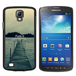 Fck It - Tipografía- Metal de aluminio y de plástico duro Caja del teléfono - Negro - Samsung i9295 Galaxy S4 Active / i537 (NOT S4)
