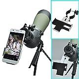 Solomark Metall Smartphone Adapter und mount Stativ-Halterung für Spektiv/Teleskop/Mikroskop/ Ferngläser - Für Okulare mit einer Breite von 38mm-50mm mm Durchmesser,und Für Smartphones mit einer Breite von 57-95mm