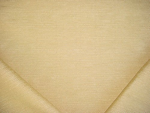 (165RT2 - Cornsilk / Yellow Gold Textured Basketweave Designer Upholstery Drapery Fabric - By the Yard)
