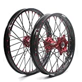 KKE HONDA MX CNC Wheel 21/19 CRF450R 13-17 CRF250R 14-17 Red Hub