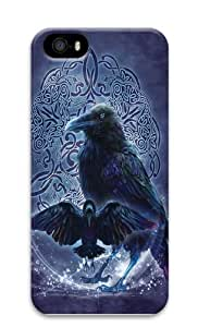 Celtic Raven PC Case Cover for iPhone 5 and iPhone 5s 3D