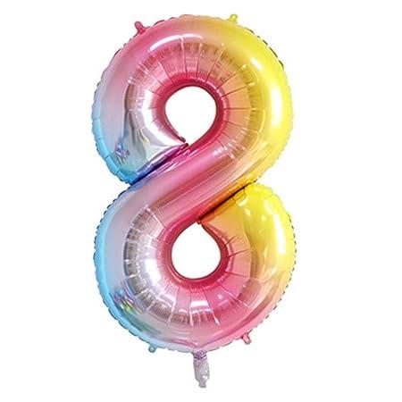 Funihut Globos de 40 Pulgadas para cumpleaños, número de ...