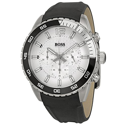 Hugo Boss Deep Blue Silver Dial Black Strap Mens Watch 1512805