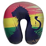 Scorpio Rasta Lion Adult Size Travel Pillow Spa U SHAPE For Auto Women