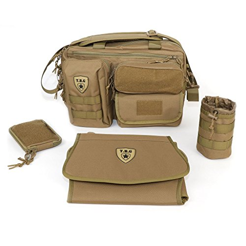 80059a47511 Tactical Baby Gear Deuce 2.0 Tactical Diaper Bag Combo Set and Changing Mat  (Coyote Brown)
