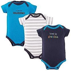 Luvable Friends Baby Girls' Cotton Bodysuits