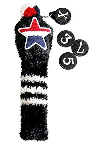 備品ステッチ腹部DECORE FOR GOLF(デコーレフォーゴルフ) ヘッドカバー DECORE FOR GOLF(デコーレフォーゴルフ) スターヘッドカバー(フェアウェイウッド) レディース DCST-FW ブラック
