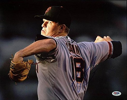Matt Cain Autographed 11x14 Photo - PSA/DNA Authenticated