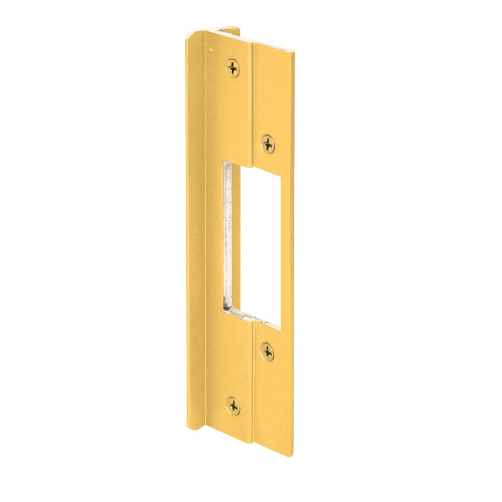 Gold Anodized Prime-Line Products Defender Security U 9482 Latch Bolt Guard Plate